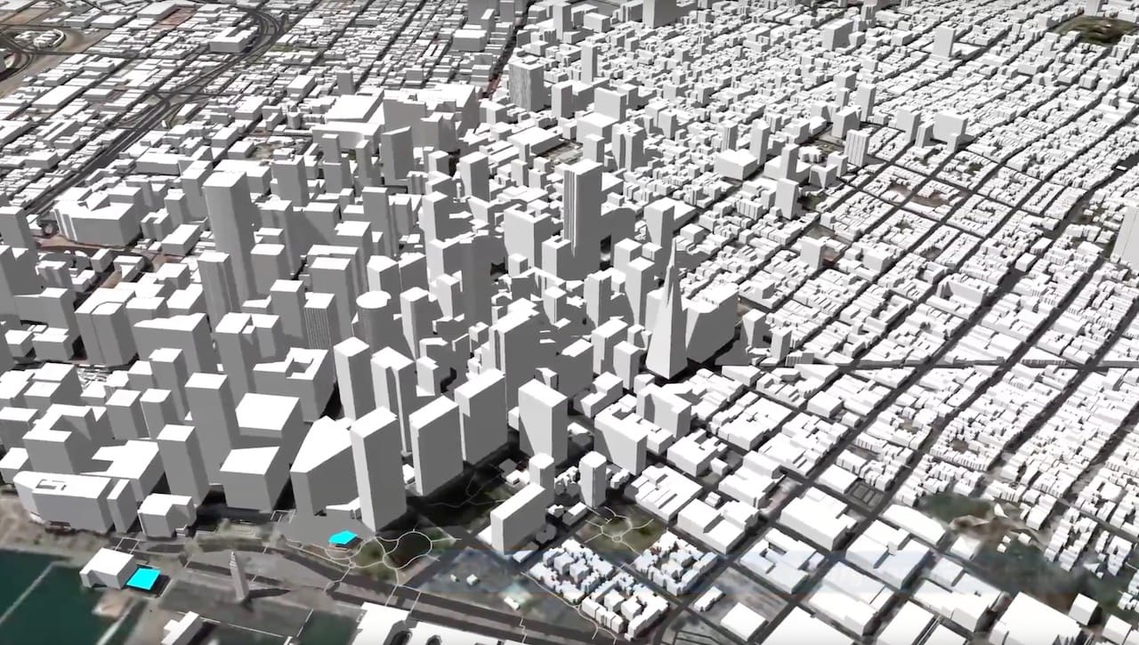 A generated 3D model of San Francisco using PlaceMaker