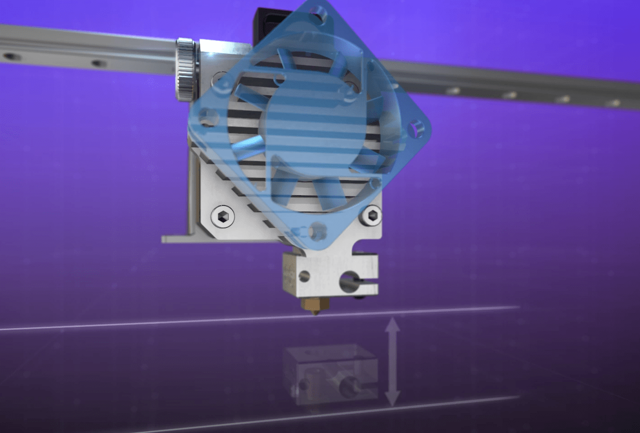 Another view of E3D-Online's Titan Aero extrusion ssytem