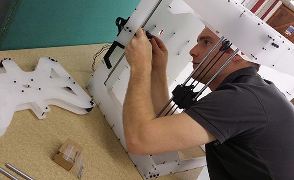 Building a prototype BigBox desktop 3D printer