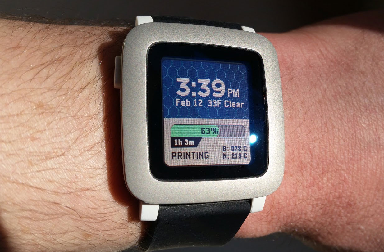 Monitor Your 3D Print Via Smartwatch