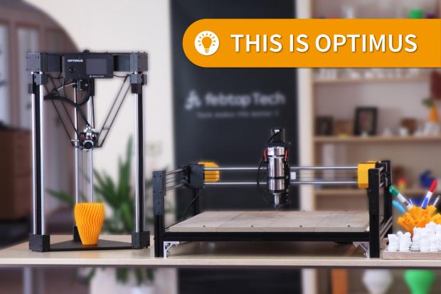 The Transformable Optimus 3D Printer / Laser Engraver / CNC Combo