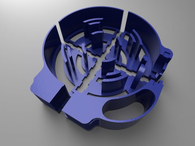Four parts to the main body of the $30 3D Scanner