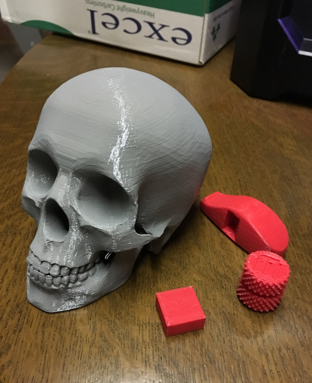 First prints on the MakerBot Replicator+ came out great!