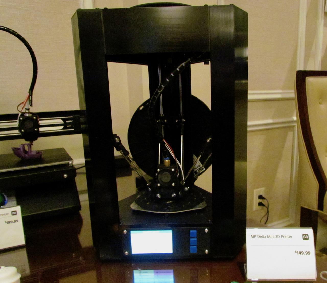 The all-new Monoprice Delta Mini desktop 3D printer