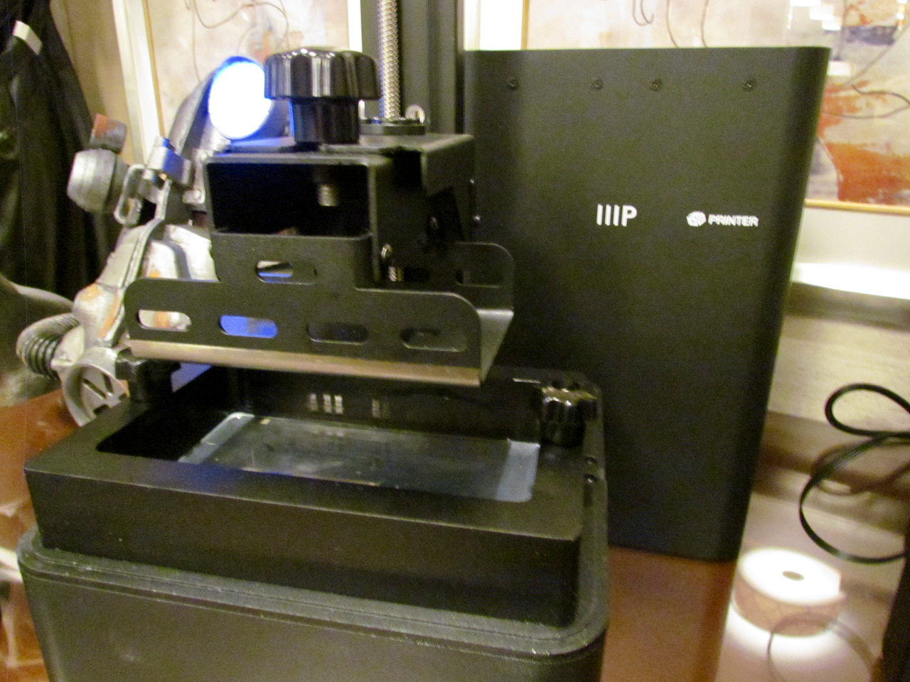 The new Monoprice inexpensive resin-based desktop 3D printer