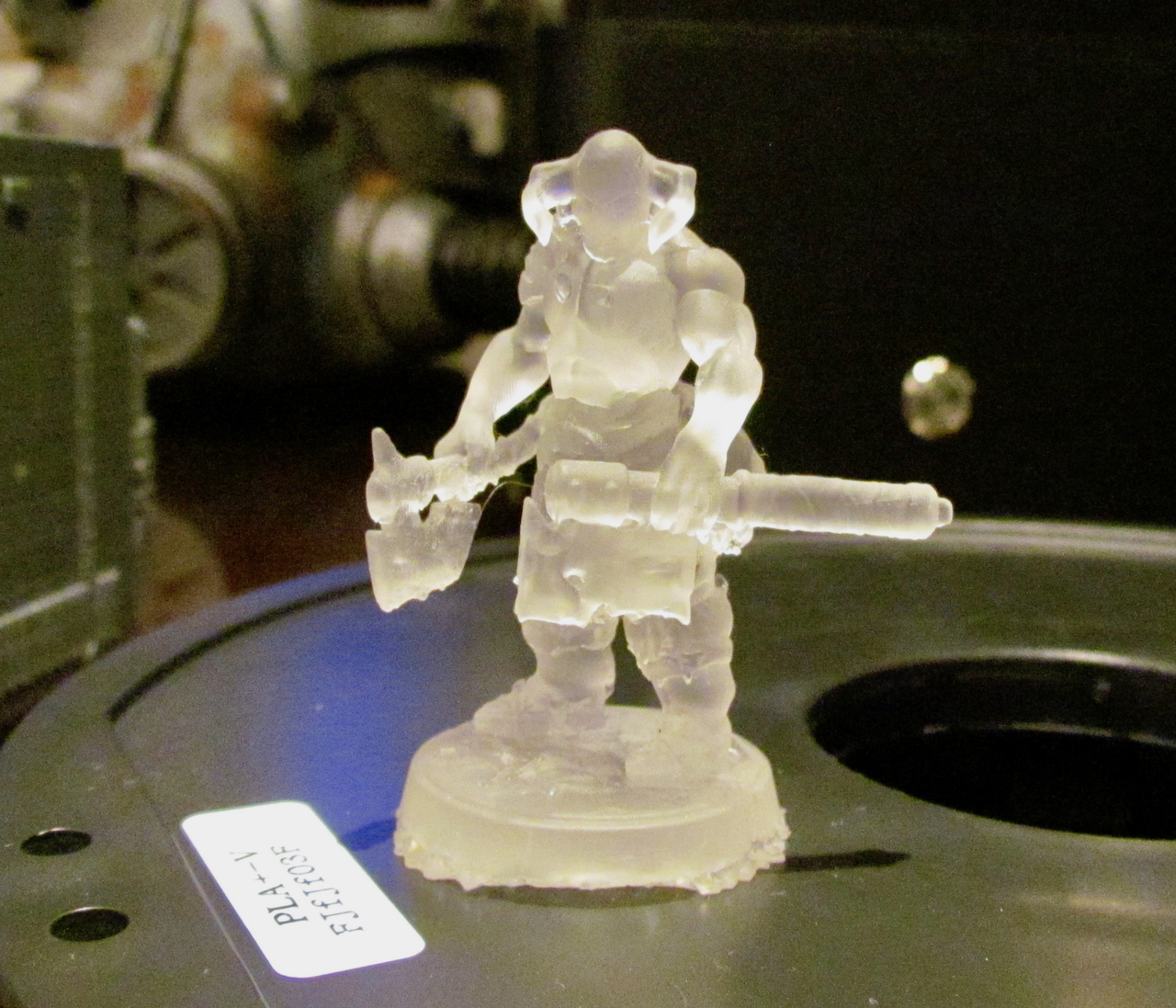 Sample 3D print from Monoprice's new low-cost resin 3D printer