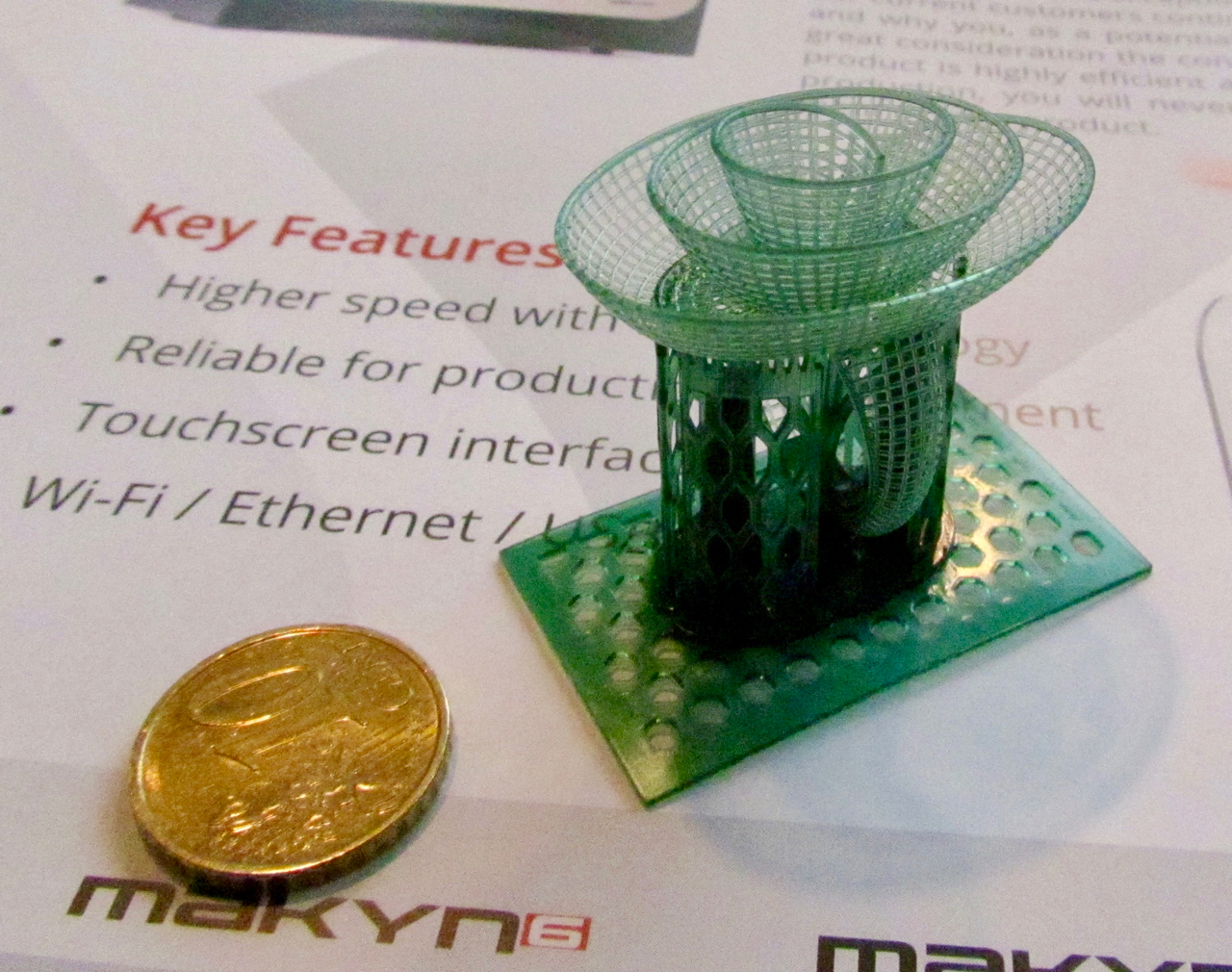 An incredibly detailed 3D print made on the Nyomo desktop 3D printer