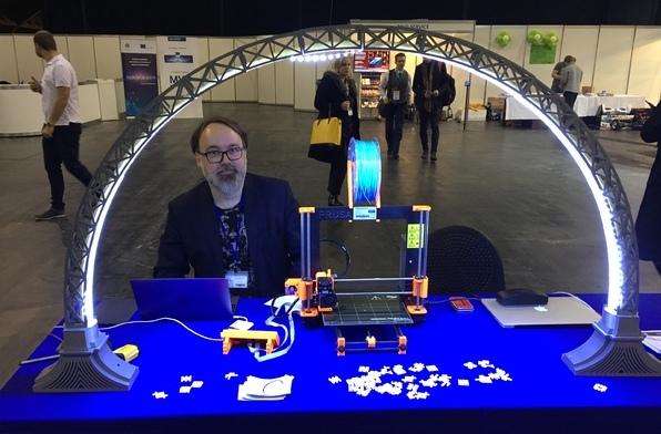 A circular version of the 3D printed LED Bridge