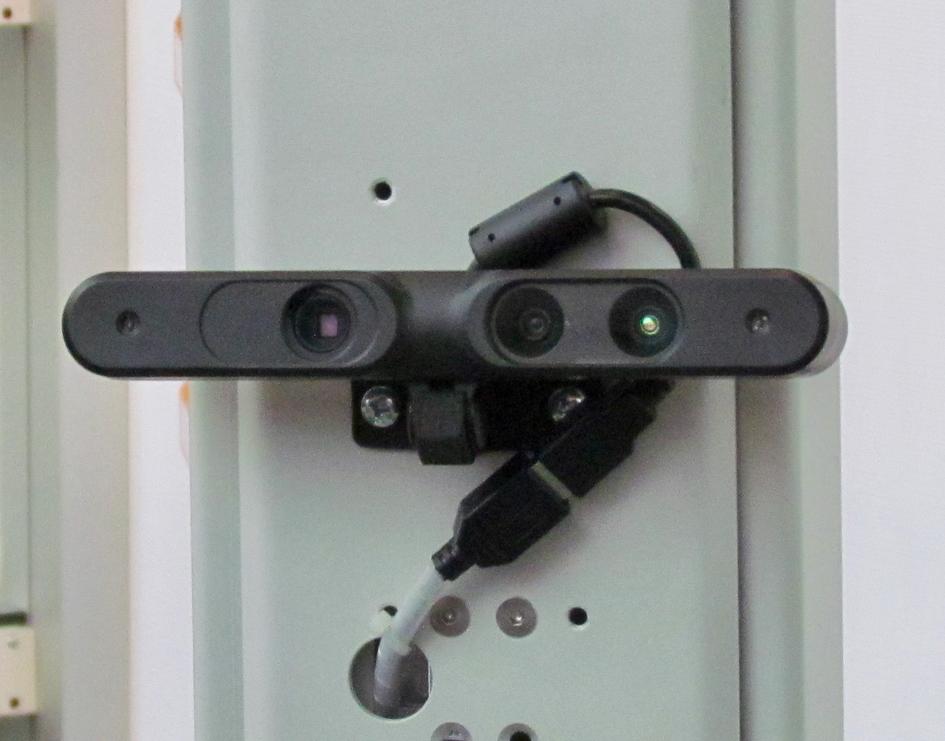 A sensor on the Texel Portal 3D body scanning system