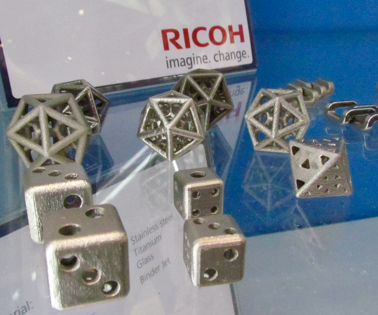 , Ricoh Working on Metal 3D Printing Technology – And Ceramics