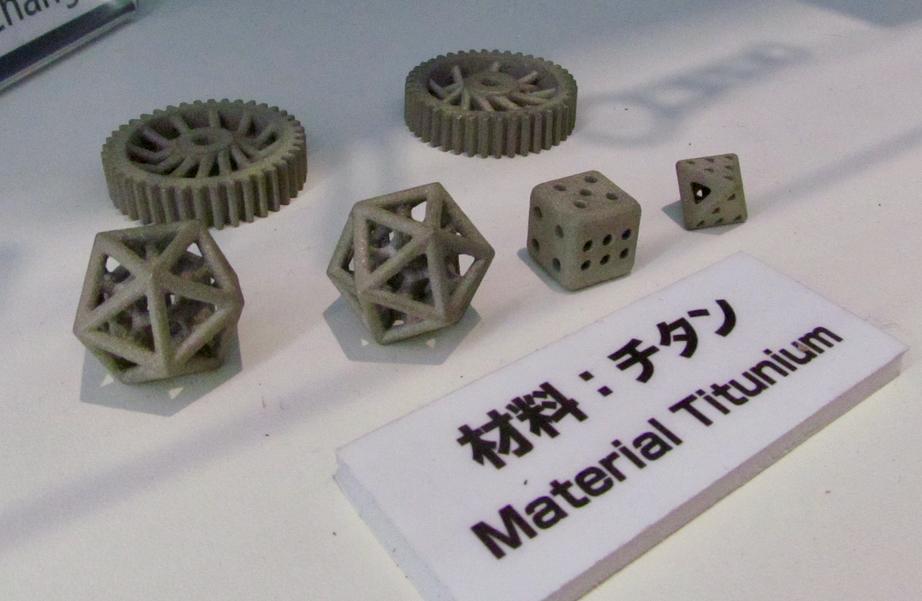 Titanium parts 3D printed on a secret Ricoh 3D printer not yet released