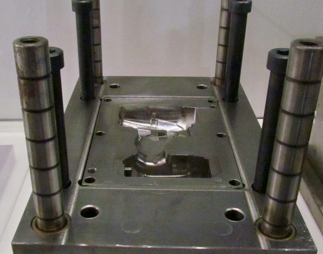 An example injection mold produced directly on the Matsuura Lumex 3D metal printer