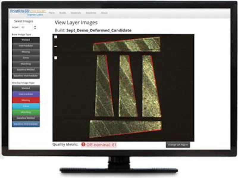 The PrintRite3D interface
