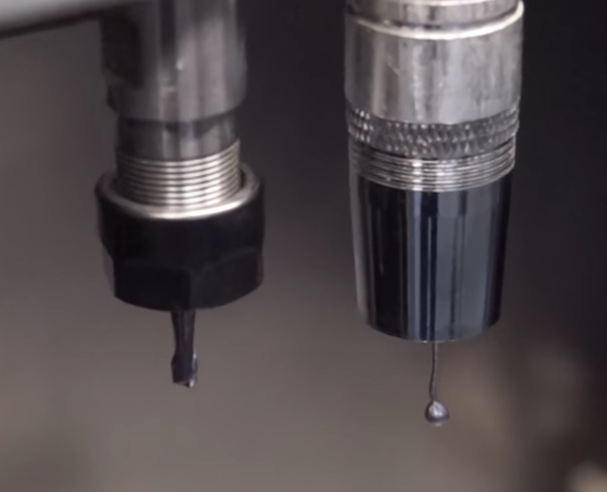 The print and CNC heads on the Ability3D desktop metal 3D printer