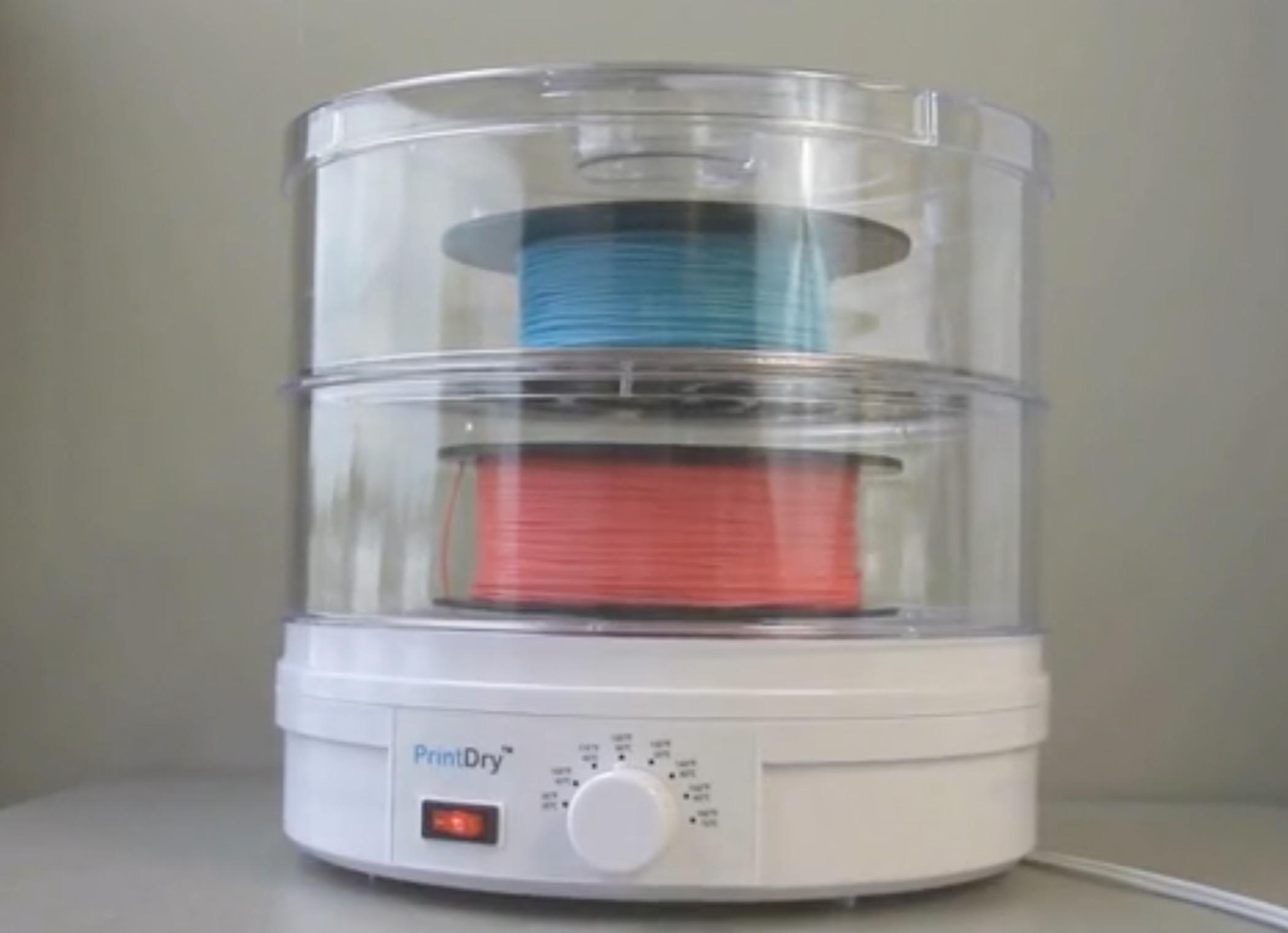 The PrintDry 3D printer filament quality system