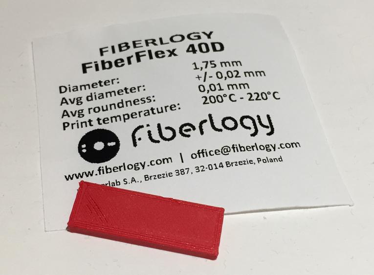 Fiberlogy's new FiberFlex 40D 3D printer filament