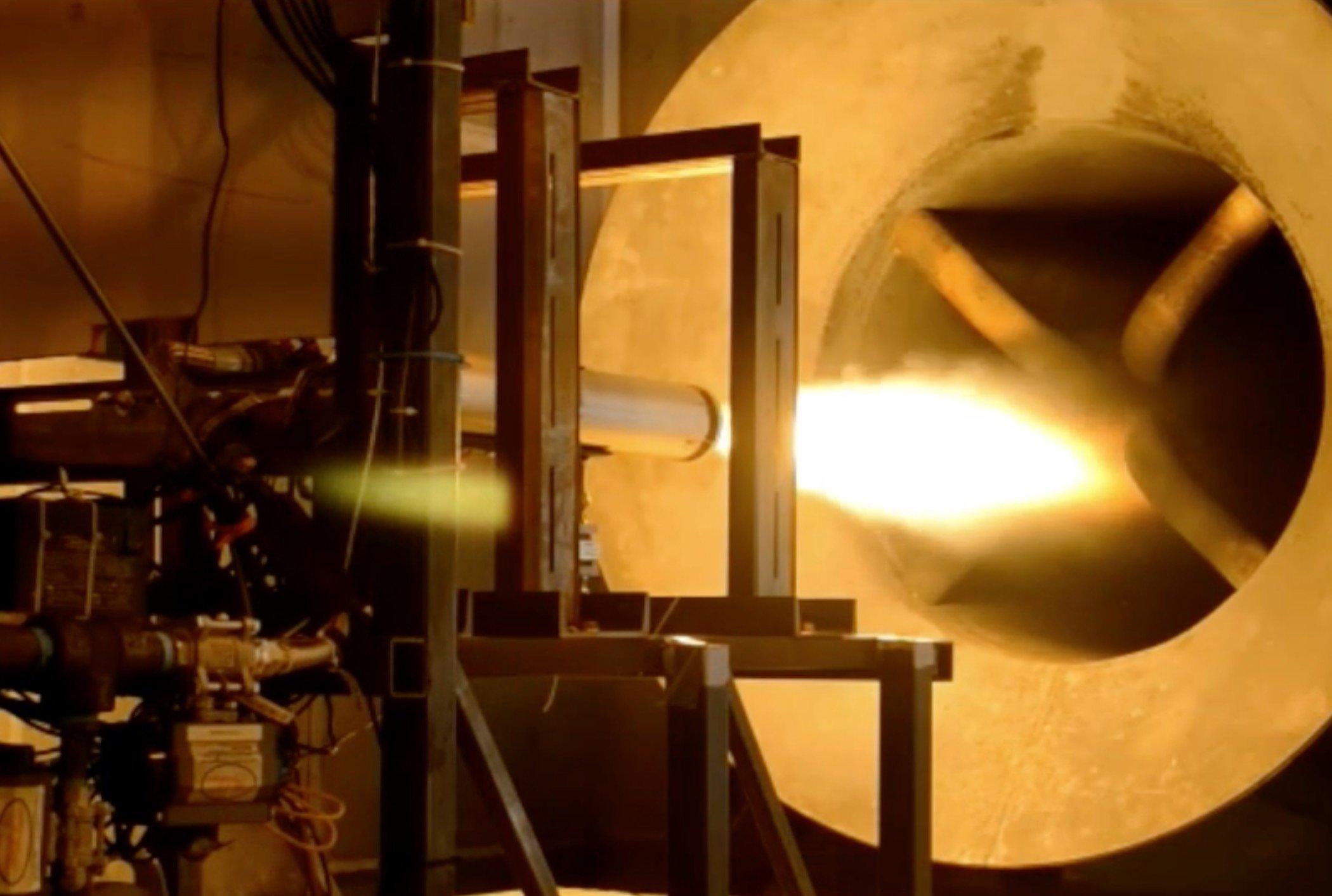 Testing a rocket engine
