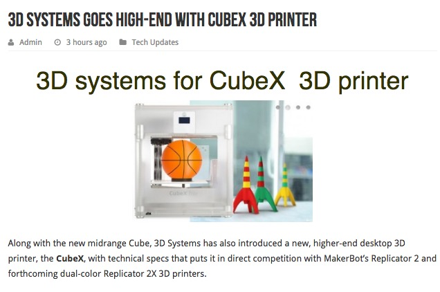 , Unbelievable Media Coverage of 3D Printing