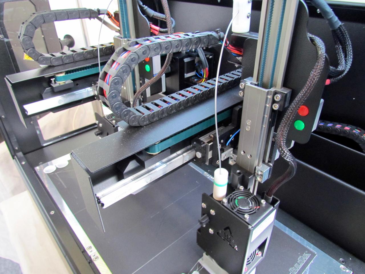 The Kloner3D desktop 3D printer's dual extruders