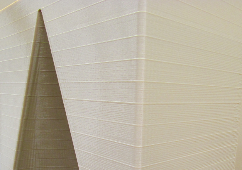 Surface detail on a large print from the Stratasys Infinite Build 3D Demonstrator showing the