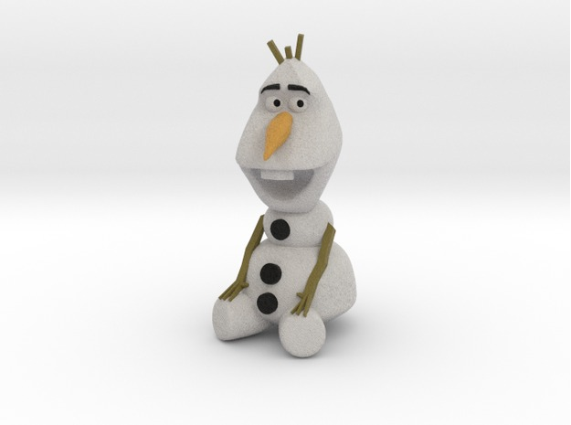 A 3D model of Olaf, from Disney's Frozen, found on  Shapeways