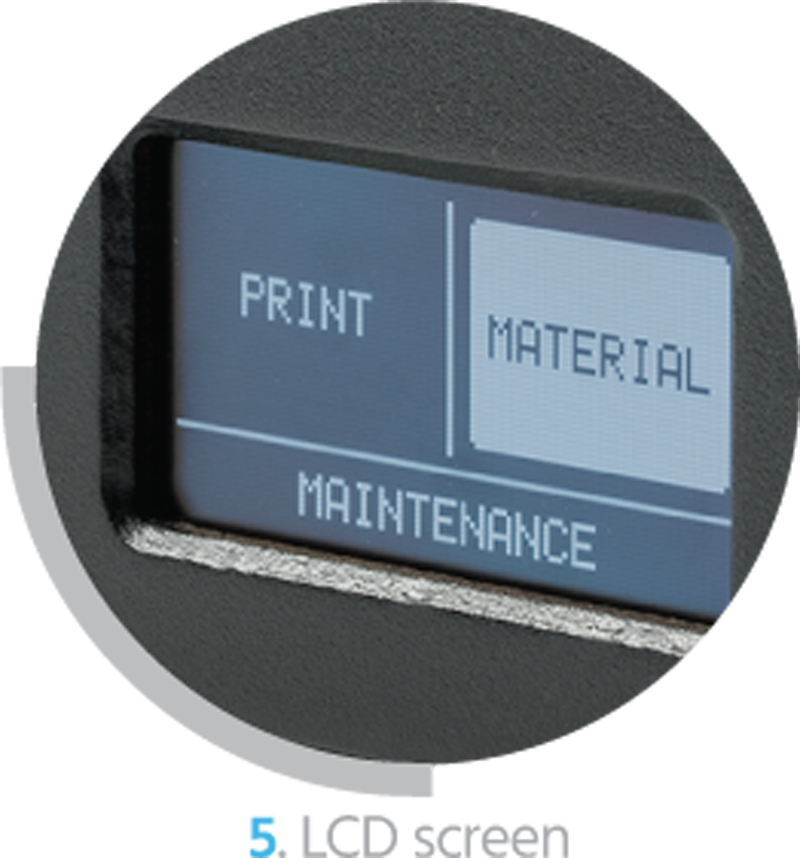 The Monoprice Maker Ultimate 3D Printer's control screen