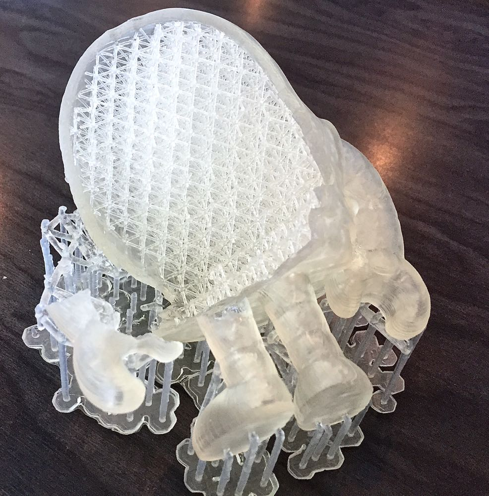 A high resolution print made on a resin-based 3D printer