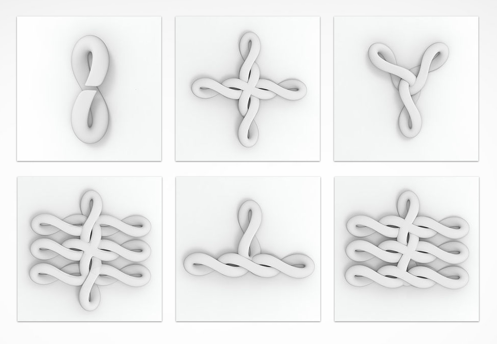 The complete set of Knot Knit pieces