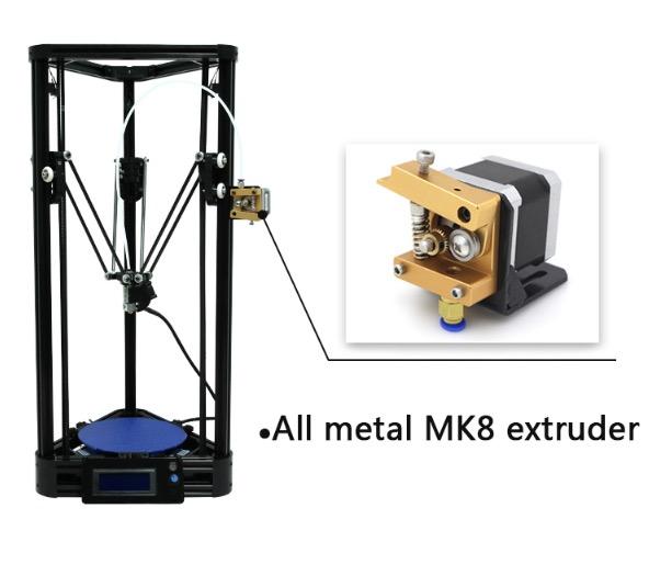 The Impresora 3D Kossel delta 3D printer