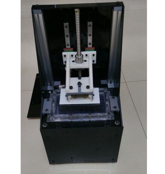 An inexpensive resin-based DLP 3D printer