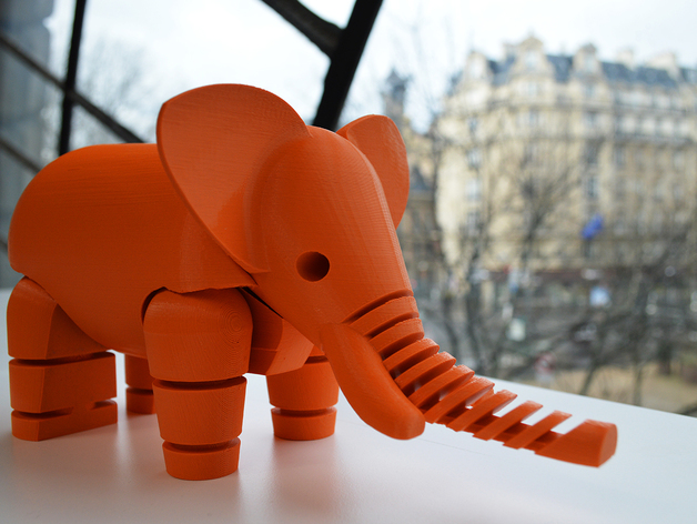The famous 3D printed Elephant by Le FabShop