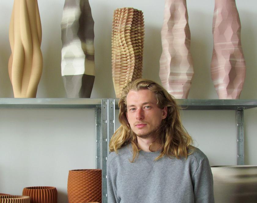 Olivier van Herpt in his Eindhoven studio