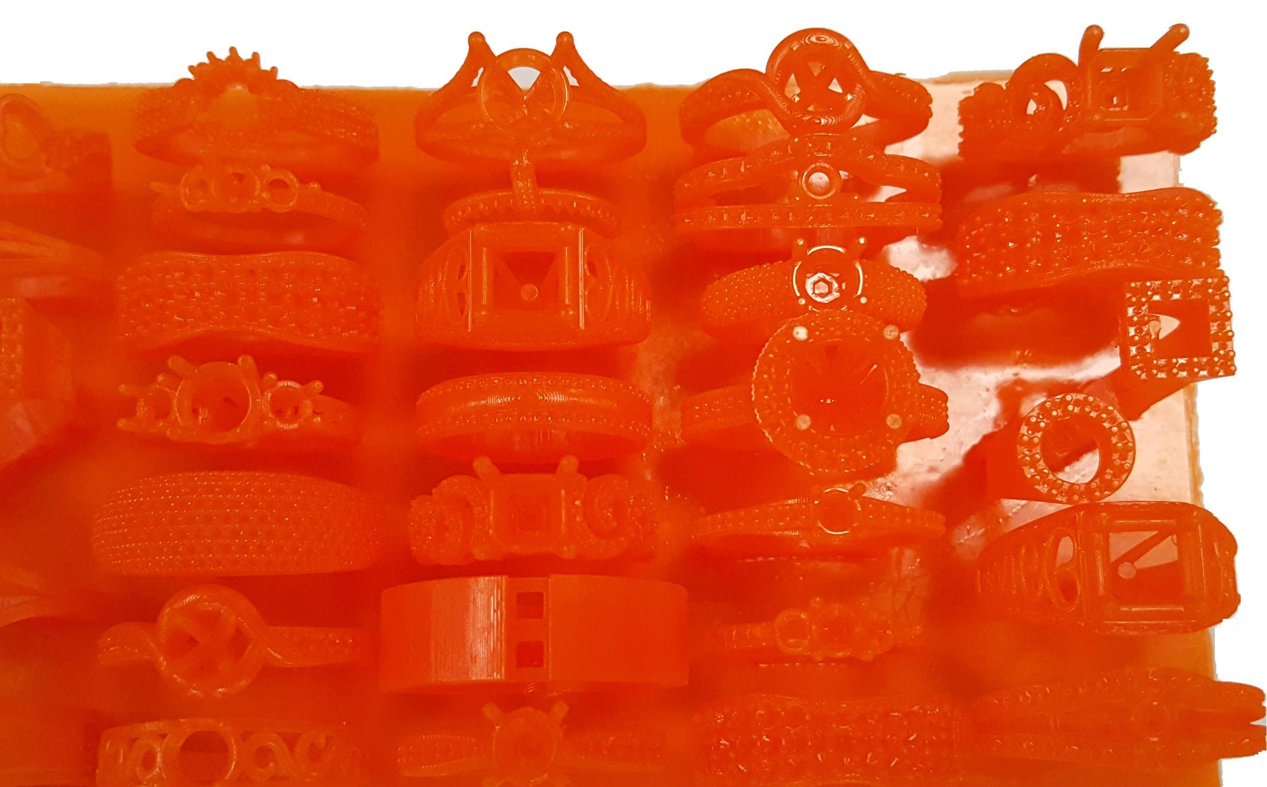 Jewelry 3D prints on the MiiCraft 125 Series 3D printer