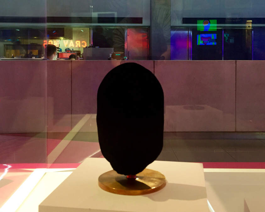 A sculpture coated with Vantablack, the world's darkest material