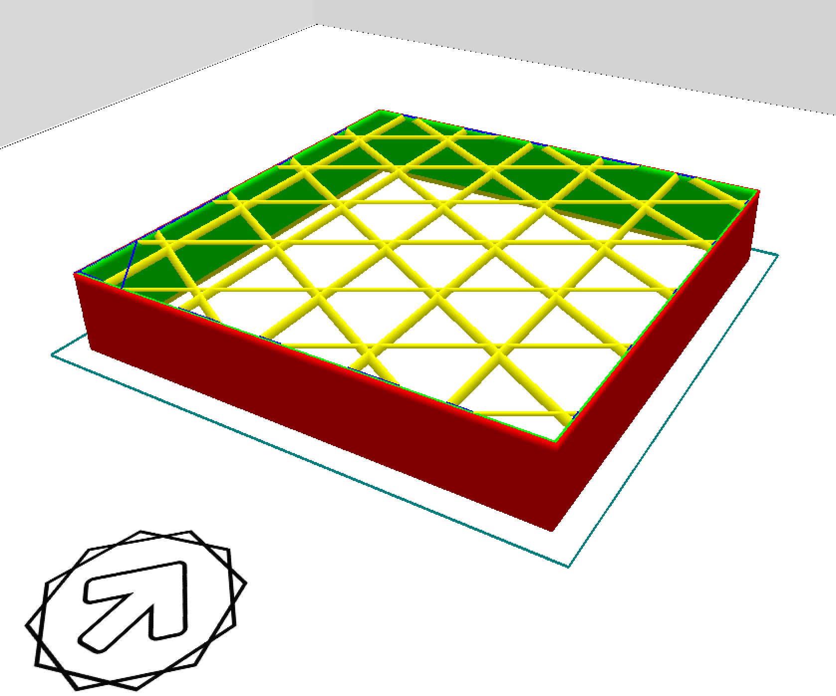 Type A Machine's CURA support generated 3D cubes
