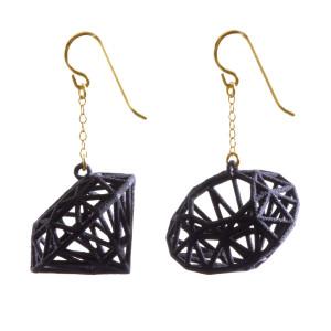 Summer Powell's 3D printed earrings