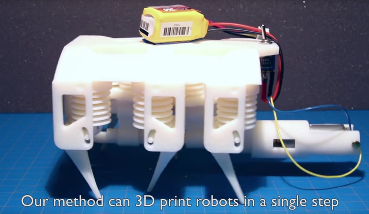 MIT Team 3D Prints Functioning Robot in a Single Step