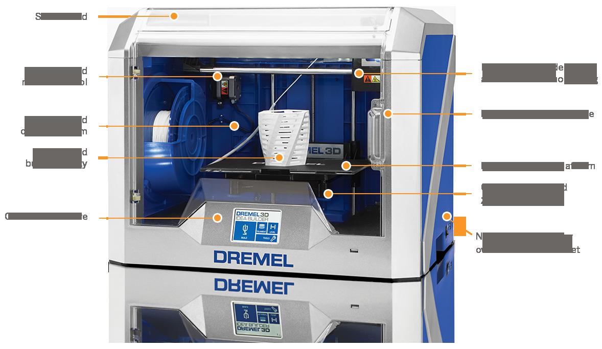 Dremel Idea Builder 3D40 education / STEM focused 3D printer features