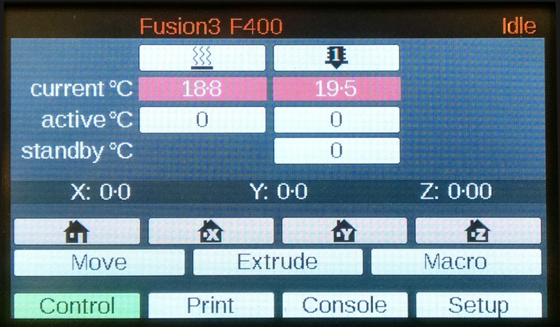 Fusion3 F400 color touch screen