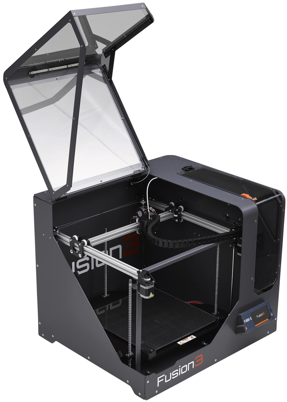 Fusion3 F400 with open lid