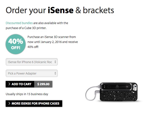 Surprise! 3D Systems Drops Price on iSense Scanner