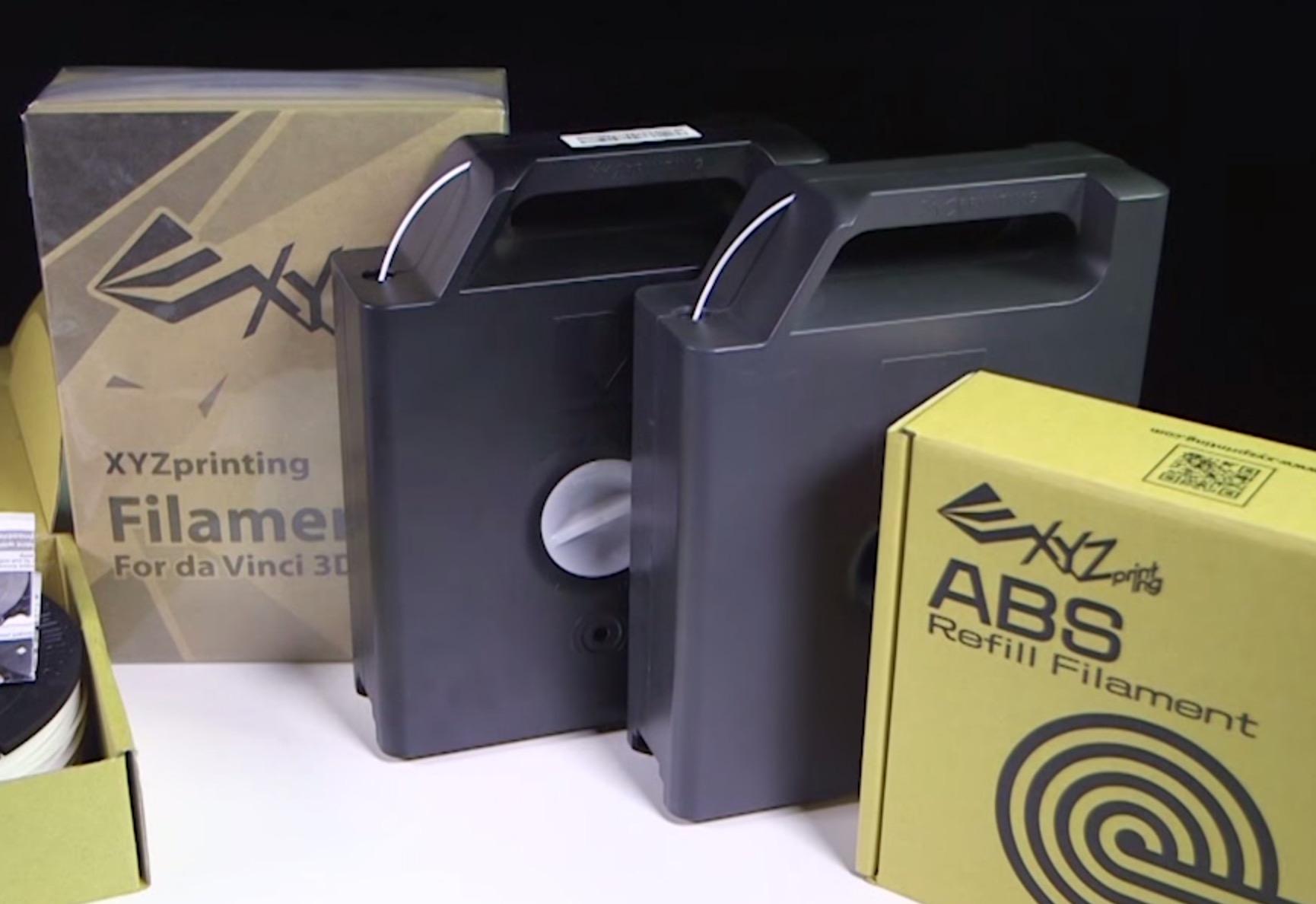 XYZPrinting's Refillable Proprietary Cartridges