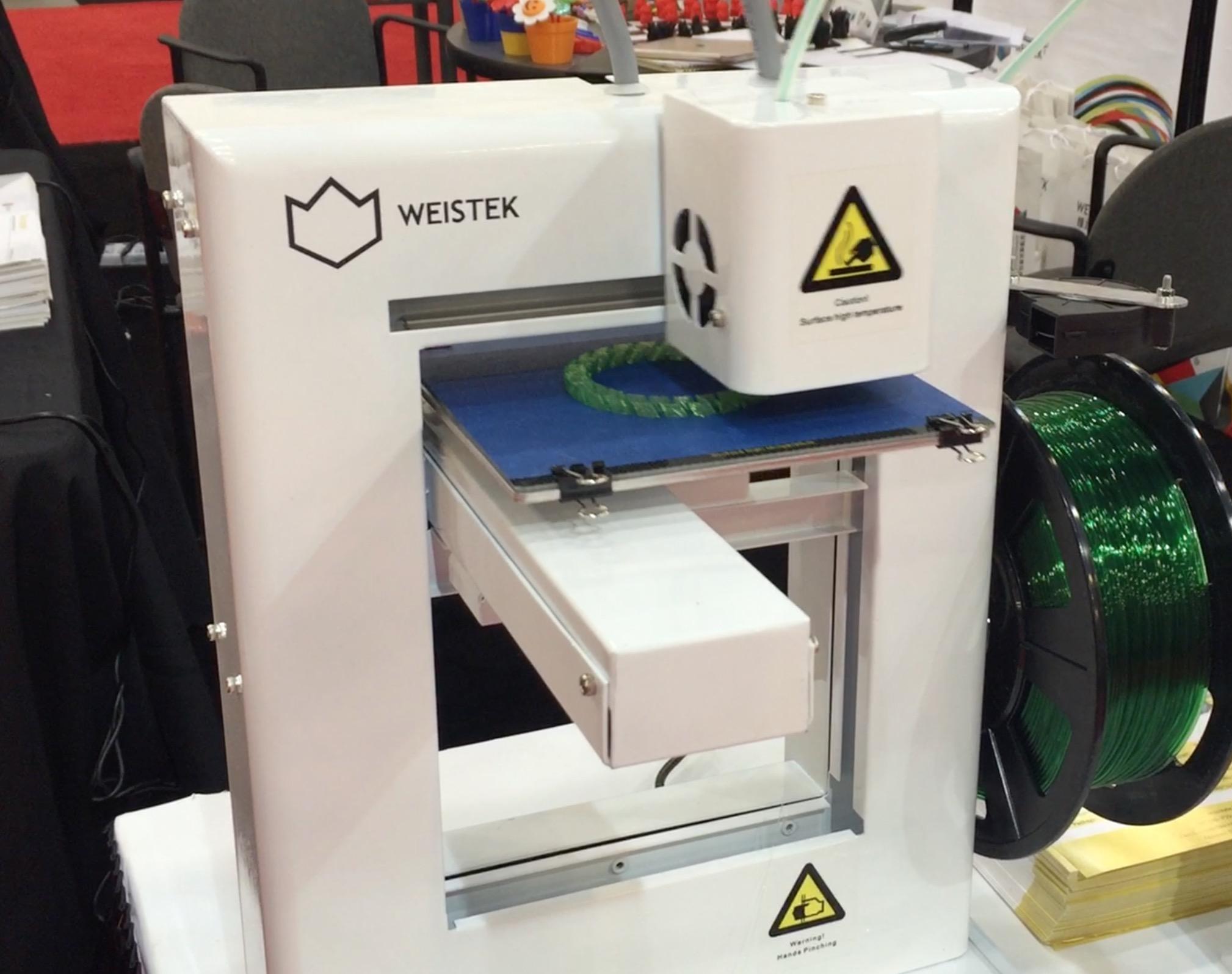WEISTEK Launches World's Fastest Desktop 3D Printer