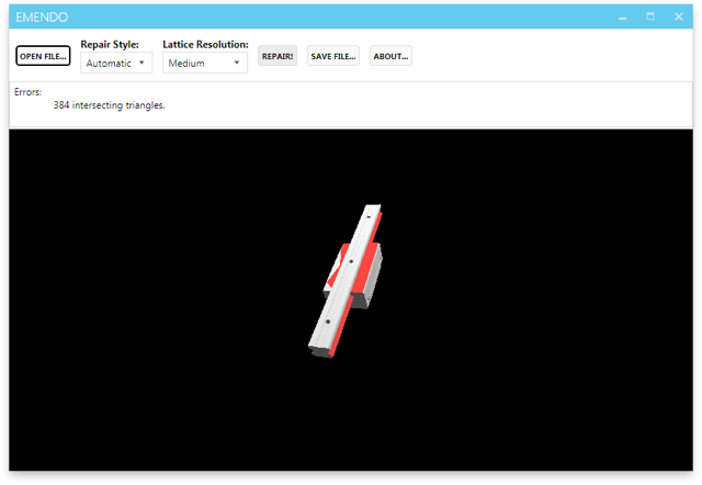 Emendo 3D Repair Software Now Available For Windows and Adds an SDK