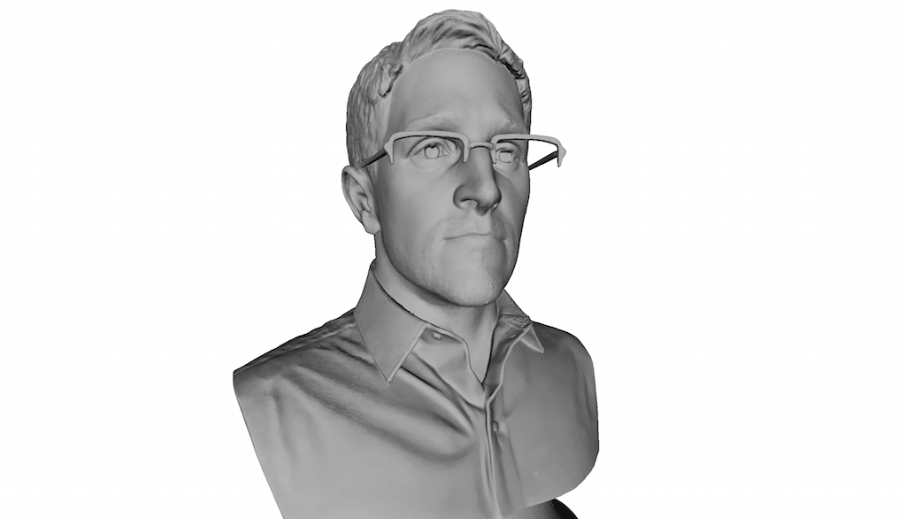 Snowden Bust Busted, But Revived with 3D Printing