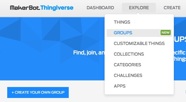 Thingiverse's Groups Make Finding Models Much Easier