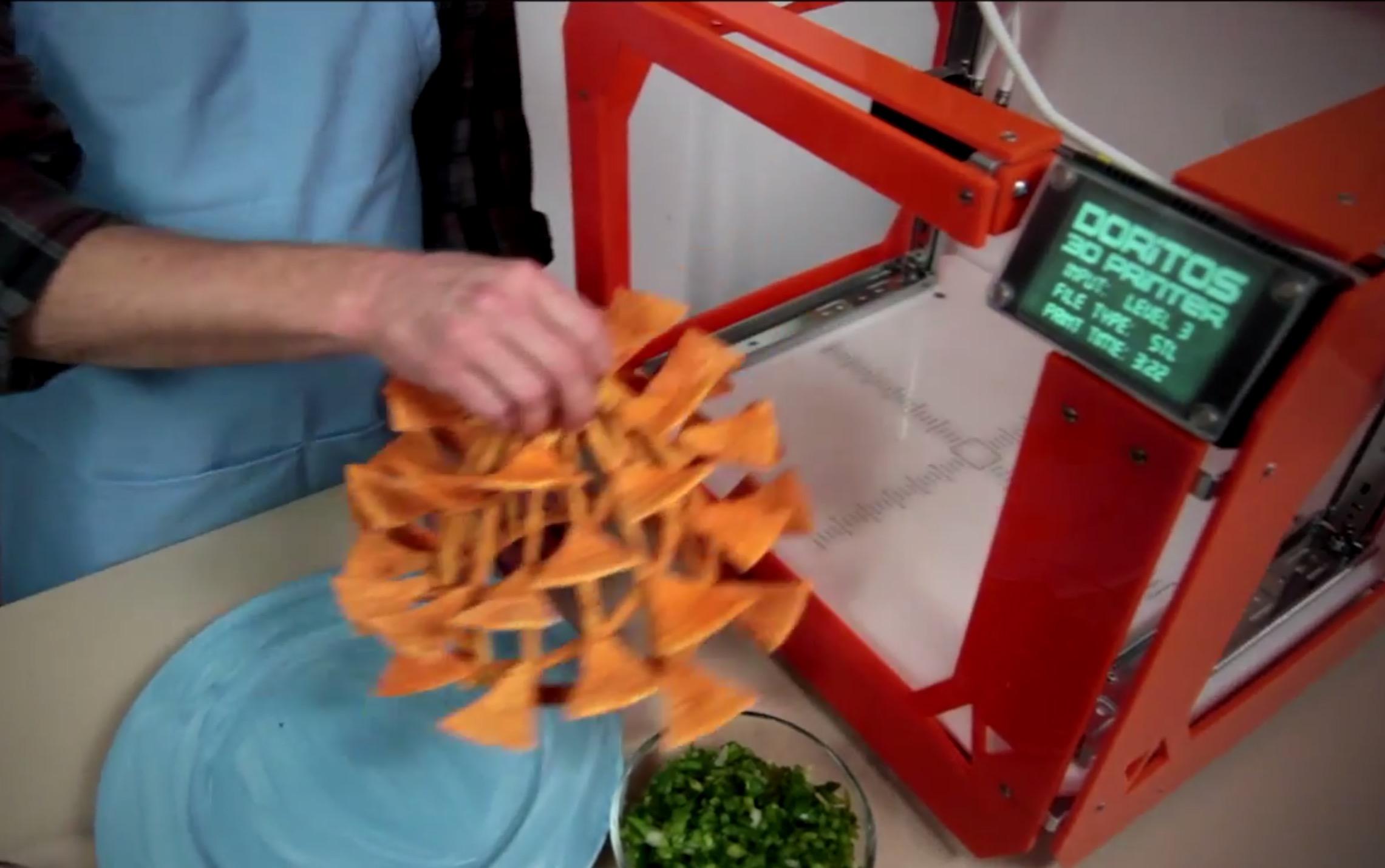 The Fabulous Dorito 3D Printer