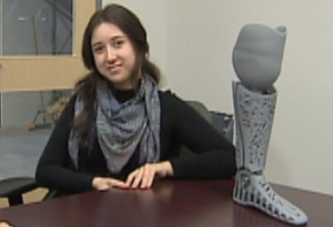 Woman Helps Design Own 3D Printed Leg