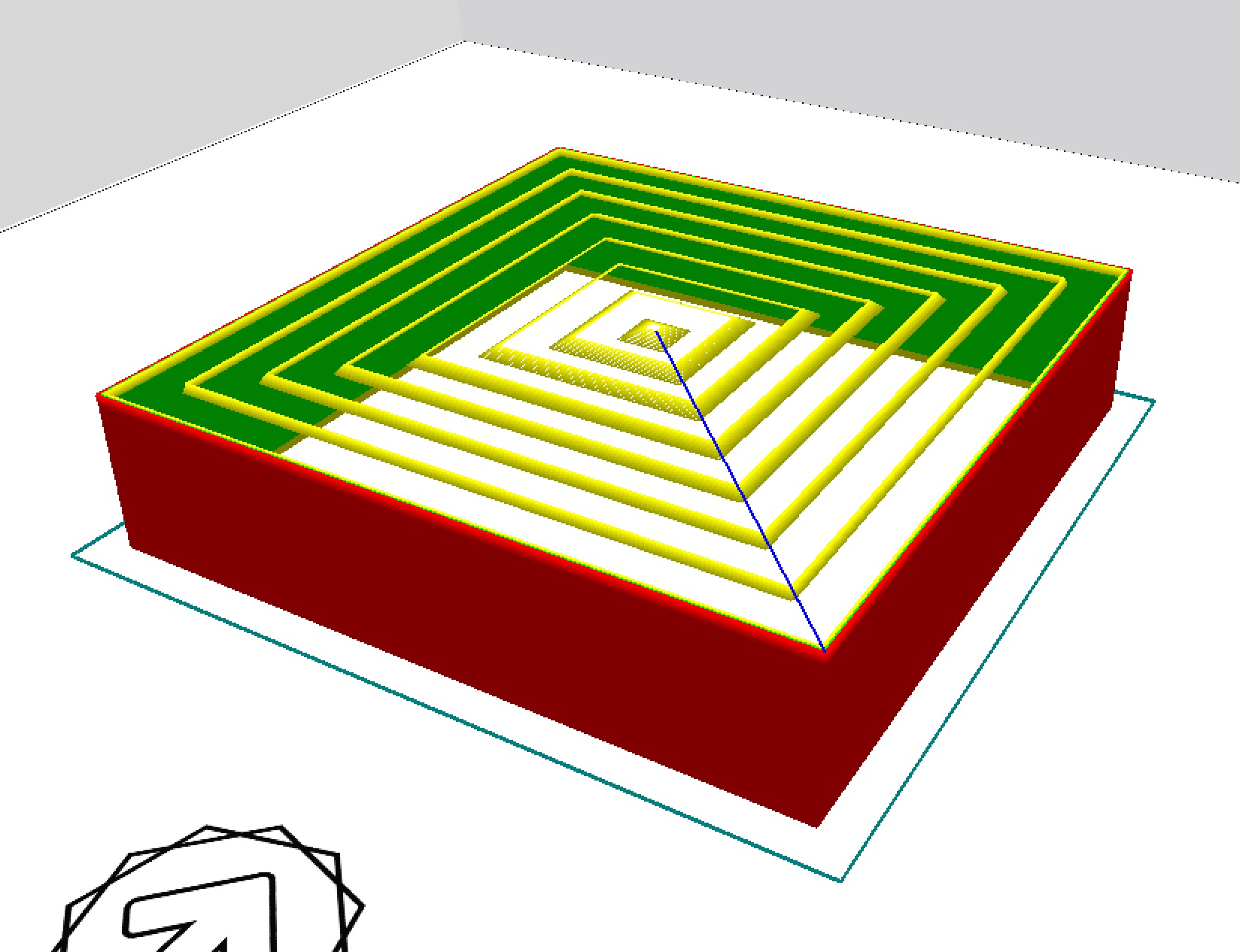 Type A Machine's CURA support generated concentric gradient