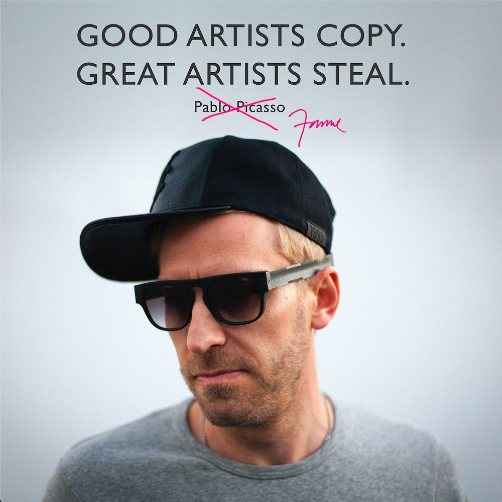 """""""Good artists copy, great artists steal,"""" said Picasso… and now Janne. [Image: Janne Kyttanen]"""